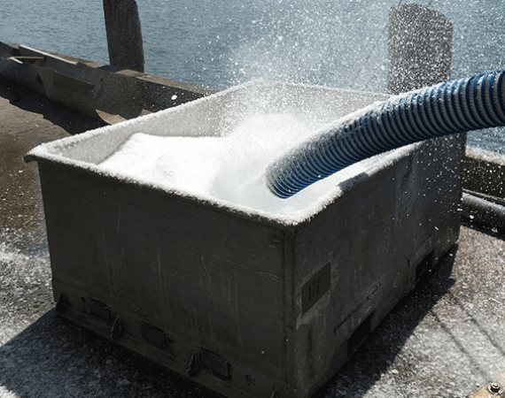 Pneumatic Ice Delivery System